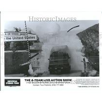 1986 Press Photo A-Team Live Action Show Universal - RRV45913