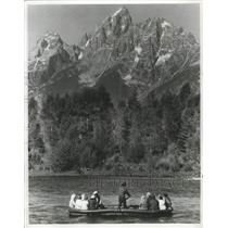 1987 Press Photo Raft Trip on Snake River, Grand Teton National Park, Wyoming