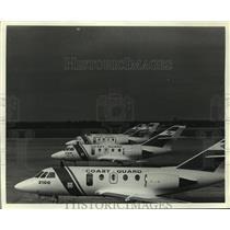 1988 Press Photo U.S. Coast Guard Falcon Jets, Alabama - amra03716