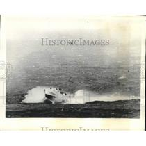 1930 Press Photo Torpedo motorboat of German Navy races off the coast of England