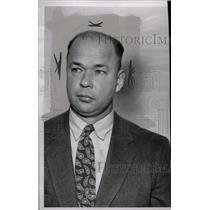 1954 Press Photo Jack Chappell Detroit Police - RRW72857