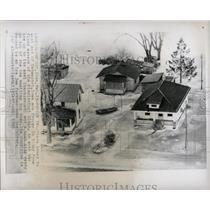 1966 Press Photo Mississippi River Davenport Iowa Flood