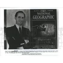 1987 Press Photo Robert Ballard Ocean Expert Titanis