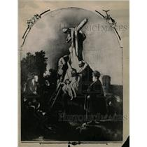 1922 Press Photo Religious Paint Descent From the Cross - RRX72809