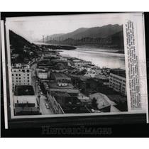 1959 Press Photo View of Juneau, capital of Alaska.