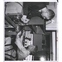 1956 Press Photo Denver University Radio Station Crew - RRX94461