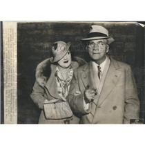1935 Press Photo Eugene Brewster Miss Liane Hill bride