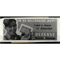 Press Photo US Defense Savings Promotional Poster - RRW69219
