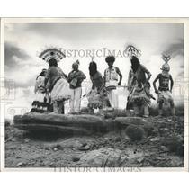 Devil Dancers of the Mescalero Apache tribe. - RRX81073