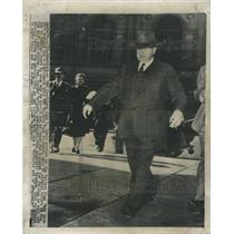 1948 Press Photo John L. Lewis in DC to Announce Mine Workers Pension