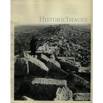 1932 Press Photo Ruined Wall Dionysius Syracuse Sicily - RRX71537