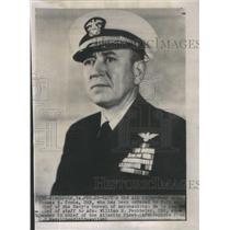 1951 Press Photo Thomas Combs Aeronautics William Fechteler Atlantic Fleet
