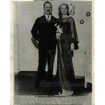 1935 Press Photo Geddes Wealthy Denver Mrs Vivian Bride - RRW12159