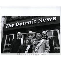 1989 Press Photo Detroit Organizations Old Newsboys