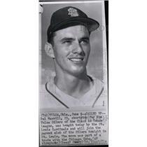 1962 Press Photo Dal Maxvill Shortstop Baseball - RRW73655