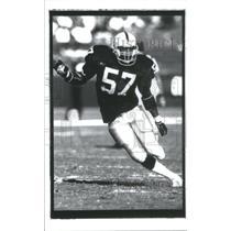 1989 Press Photo Jerry Robinson Los Angeles Raiders - RSC28337