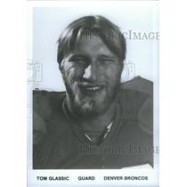 1991 Press Photo Tom Glassic Guard Denver Broncos - RSC25979