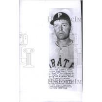 1956 Press Photo Toby Atwell Pittsburgh Pirates Catcher Baseball Player