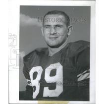 1956 Press Photo Dave Kaiser Michigan State University Football Player