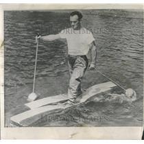 1957 Press Photo Daniel Fournier French Canadian Walk