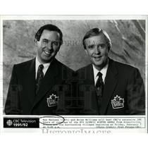 1992 Press Photo Ron MacLean Brian Williams Olympics - RRW05647