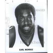 1975 Press Photo Vernon Earl Monroe Philadelphia America Basketball player Play