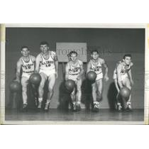 1943 Press Photo Illinois University Whiz Kids Posing Smiley Mathison Menke