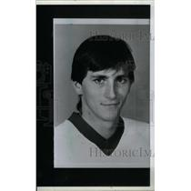 1986 Press Photo Mark Laforest Detroit Red Wings Goalie - RRX39509