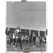 1953 Press Photo Baton Twirlers Airborne Maneuvers - RRW34109