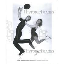 Press Photo Jayne Torvill Obe British Ice Dancer Christopher Dean Gold Medal