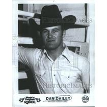 1982 Press Photo All Around Champion Cowboy Dan Dailey