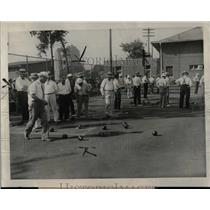 1930 Press Photo Lawn Bowling Grand River Wreford St - RRW00699