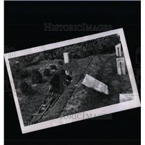 1955 Press Photo Dachau Prisoners Bullet Back Head