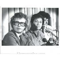 1980 Press Photo Kenneth Taylor Pat Doug Canadian
