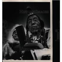 1968 Press Photo San Ildefonso Indians Pueblo Plaza age - RRX65765