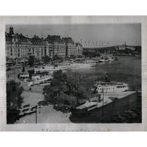 1945 Press Photo Sweden Capital City Stockholm
