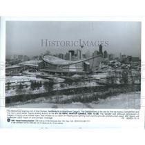 1988 Press Photo Olympic Scotiabank Saddledome Canada