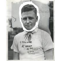 1937 Press Photo William Barclay Flint Golfer - RRW31453