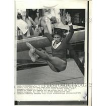 1976 Press Photo Olga Korbut, Olympic Gymnast. - RRW32045