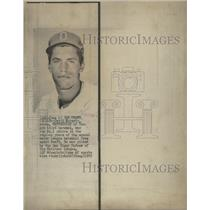 1972 Press Photo U. of Oregon draftee goes to the San Diego Padres - RSC29109