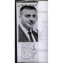1956 Press Photo Johnny Sauer Citadel Head Coach Resign - RRX38953