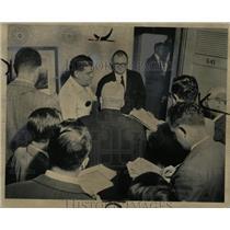 1955 Press Photo Frank Winn CIO Ford Motor Co Chicago