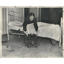 1948 Press Photo Virginia Marmaduke Firemen Boots