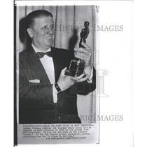 1957 Press Photo Director George Stevens Wins Oscar - RRW28477