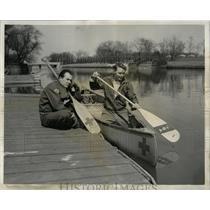 1956 Press Photo RED CROSS DOUGLAS BOYD JIM KRONKOW - RRW62113