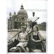 1935 Press Photo Margaret Truman friend Guri Lie daughter Irygve Santa Maria