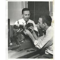 1956 Press Photo Paul Martin Joseph De Boo Titanium Arc - RRW42567