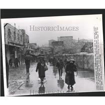 1962 Press Photo Jerusalem Israel City Snowfall - RRX81309