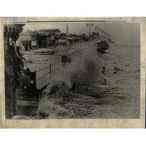 1932 Press Photo High Tide In Daytona Beach - RRX63153