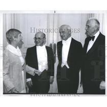 1973 Press Photo Milton Friedman and Saul Bellow, Nobel Prize Winners